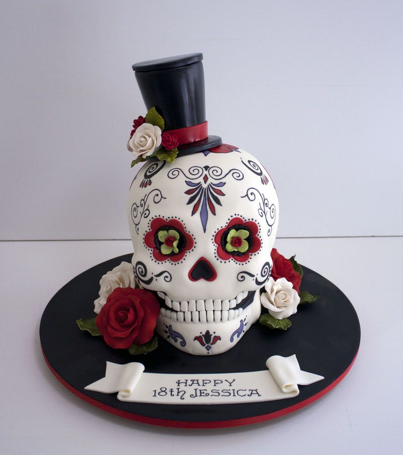 Fine Newcastle Based Wedding Celebration Cakes With Images Skull Cake Funny Birthday Cards Online Eattedamsfinfo