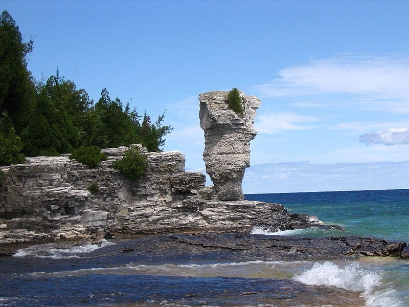 Flowerpot Island is an island in Bay, in the