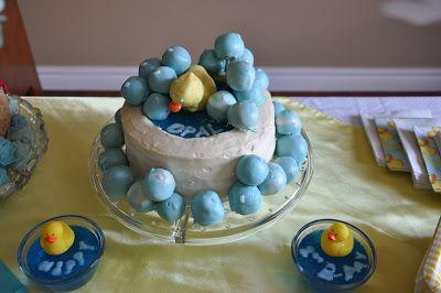 Get Creative!: Splish Splash 1st Birthday Party Bathtub Cake
