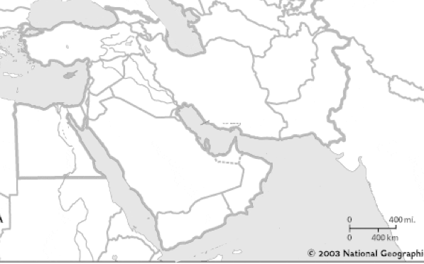 middle east map blank 100 images middle east free maps free