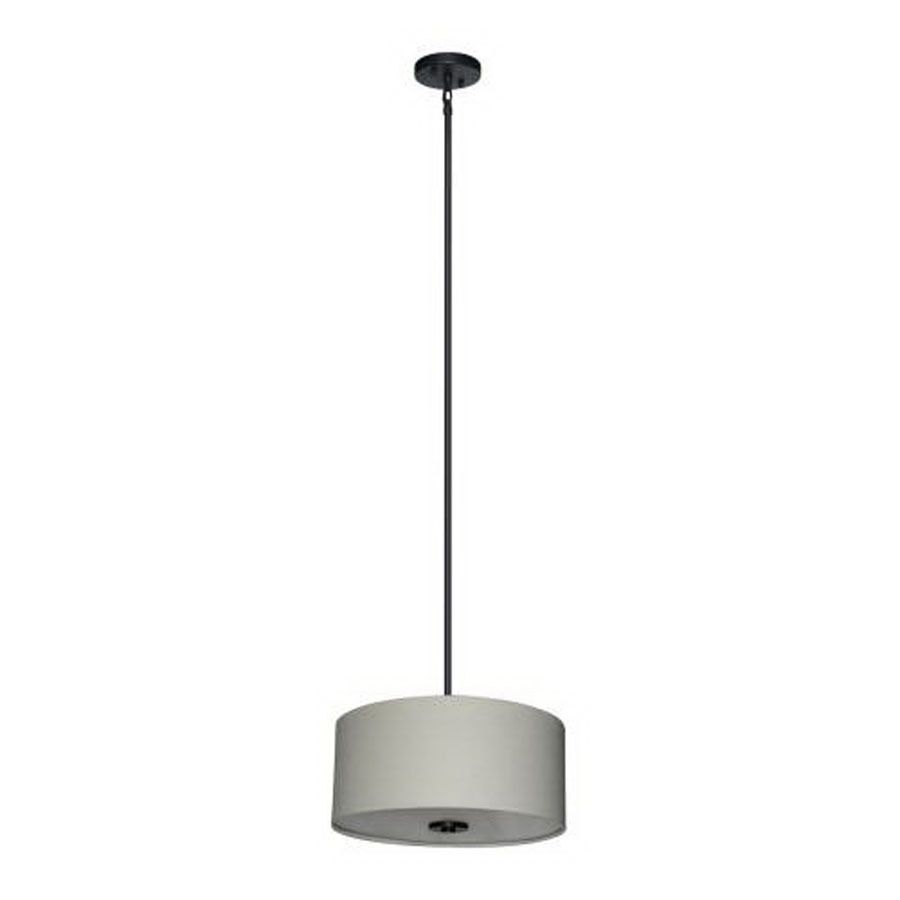 Lowes Pendant Lighting Amusing Shop Whitfield Lighting 16In W Drum Shade Pendant Light With Fabric