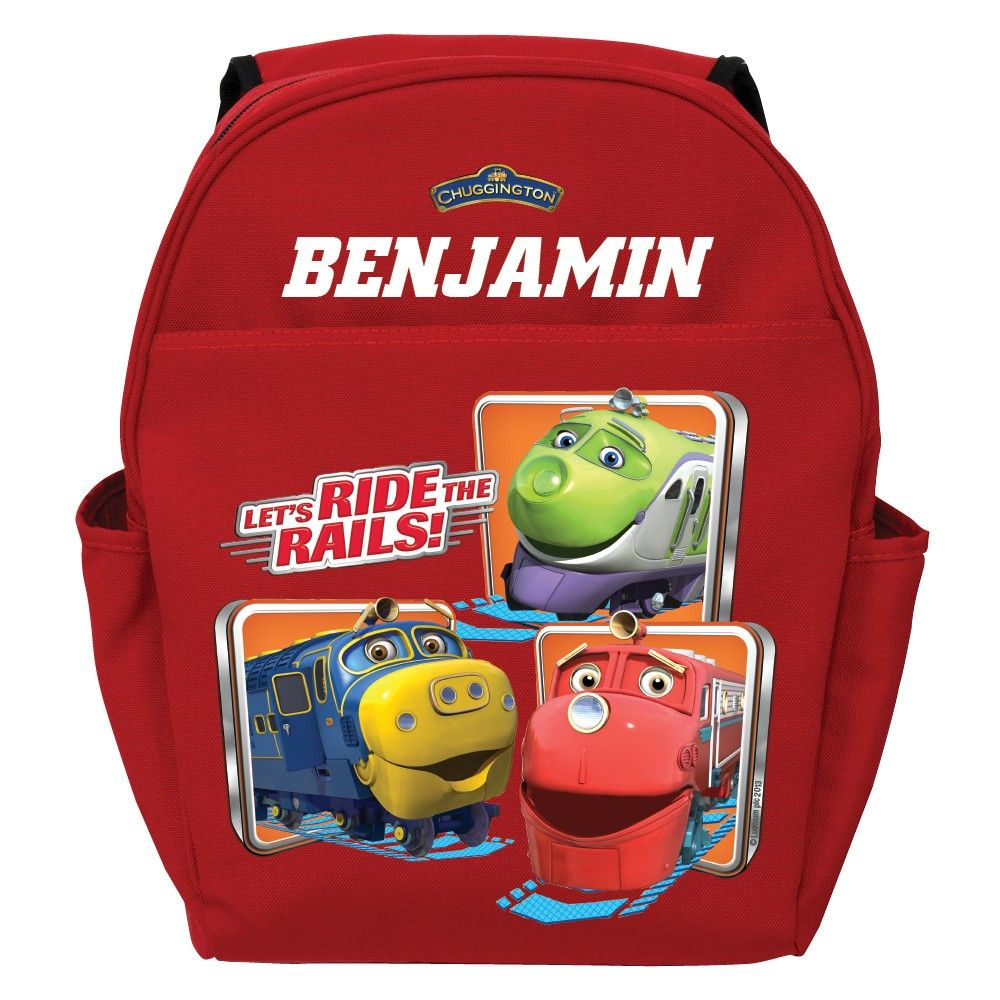 Chuggington Ride the Rails Red Toddler Backpack - Personalized ...