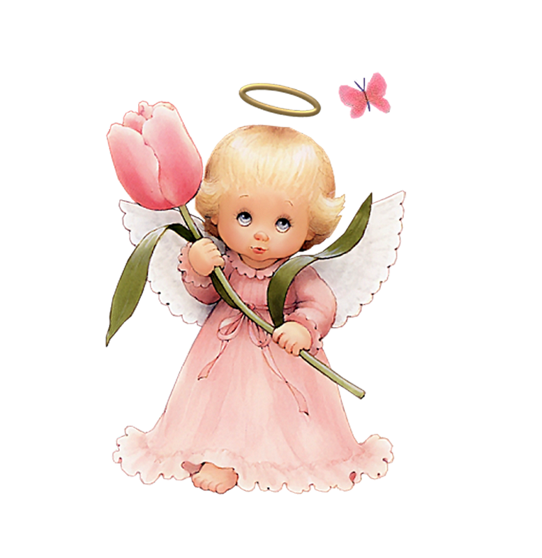 Angel beautiful. Cute clip art with