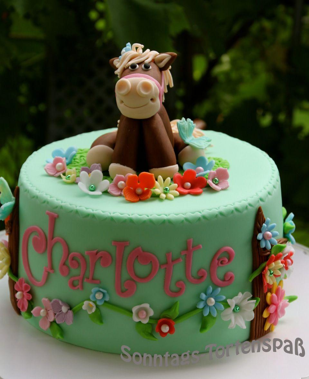 Horsecake Pferde Forte 5 Geburtstag Torte Mädchen Torte 2