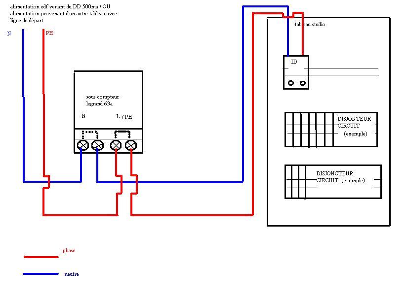 Branchement D Un Sous Compteur Electrique Sous Compteur Electrique Compteur Electrique