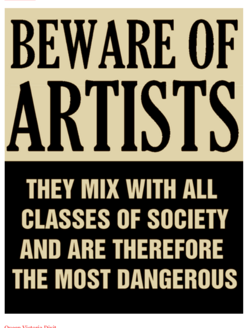 artists are socialists