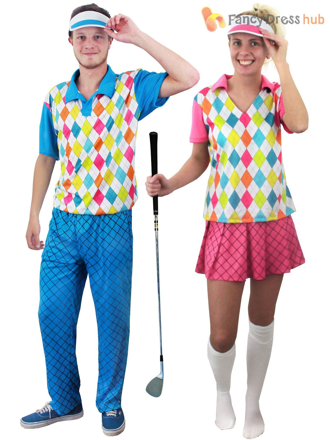 e111558c Adult Pub Golf Costume Men Ladies Golfer Fancy Dress Sport Hen Stag Party  Outfit #ebay #Fashion