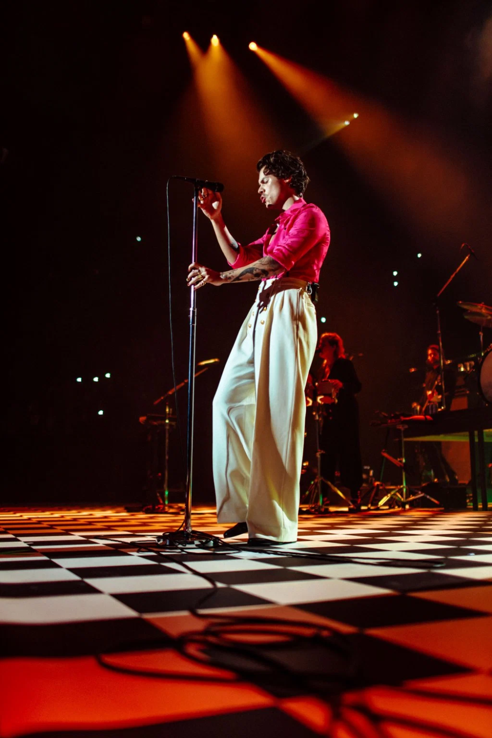 Harry Styles at the Forum in Los Angeles