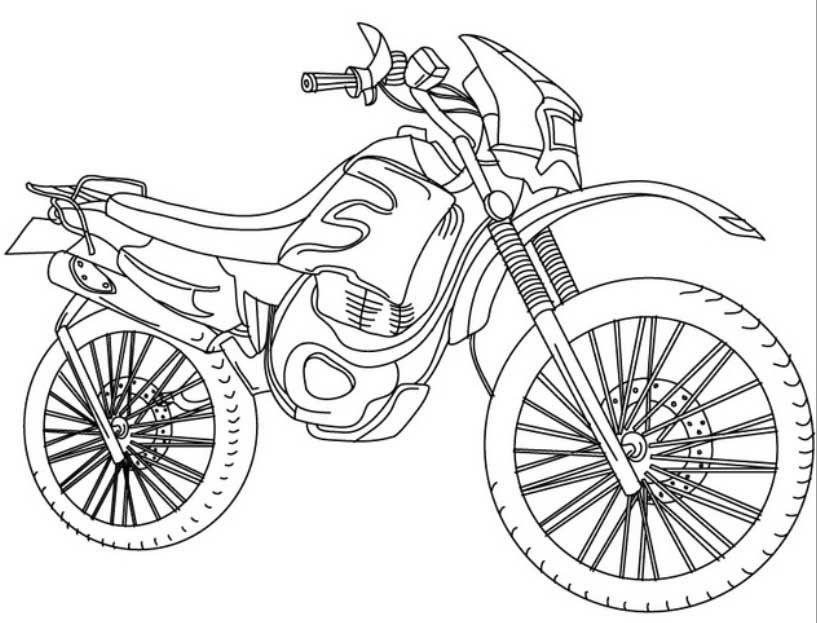 Dibujos De Motos Para Colorear Dibujos Para Imprimir Y Colorear