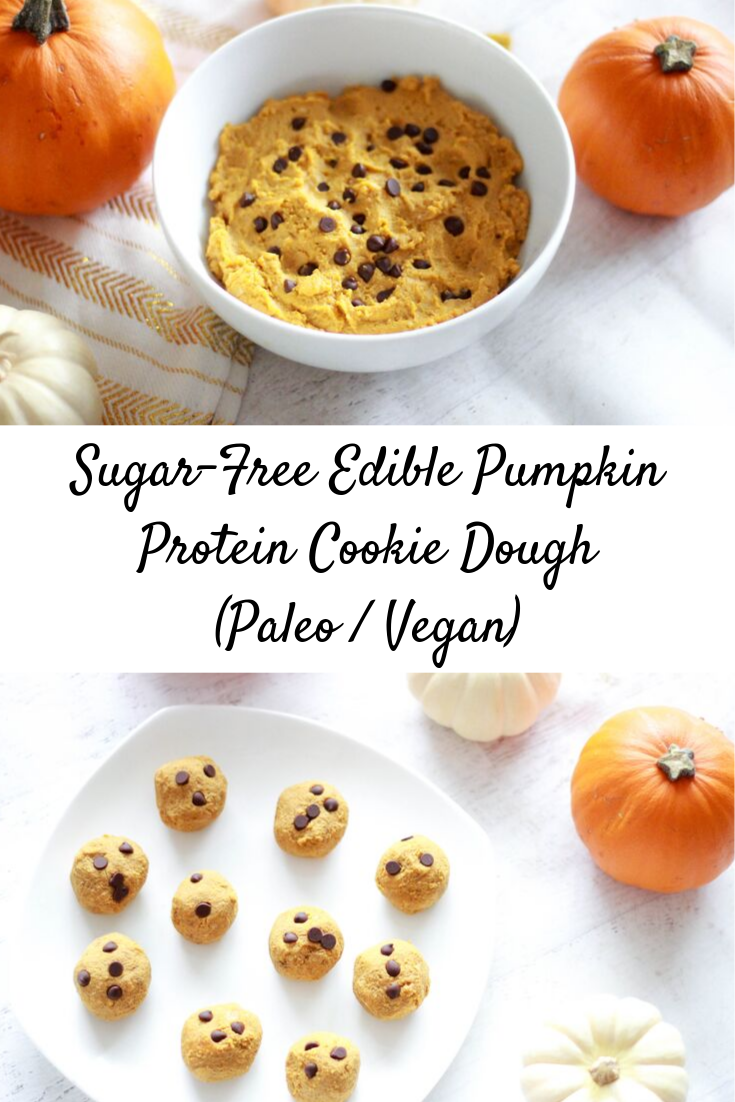 Sugar-Free Edible Pumpkin Protein Cookie Dough (Paleo / Vegan / Keto #proteincookiedough Sugar-Free Edible Pumpkin Protein Cookie Dough (Paleo / Vegan) #proteincookiedough