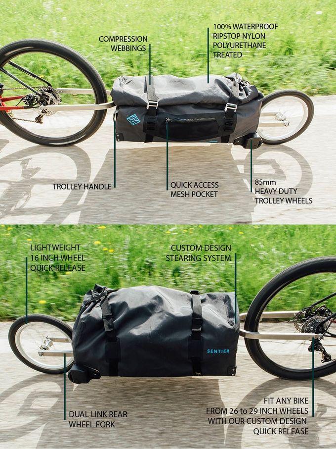 Sentier Bike Trolley Support On Kickstarter Now Bike Bike