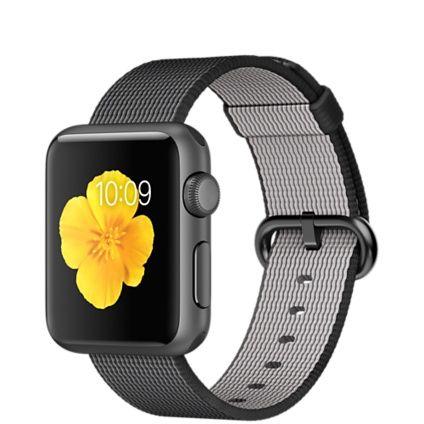 Apple Watch Sport - Caja de 38 mm de aluminio en gris espacial y correa de nailon trenzado negra - Apple (ES)