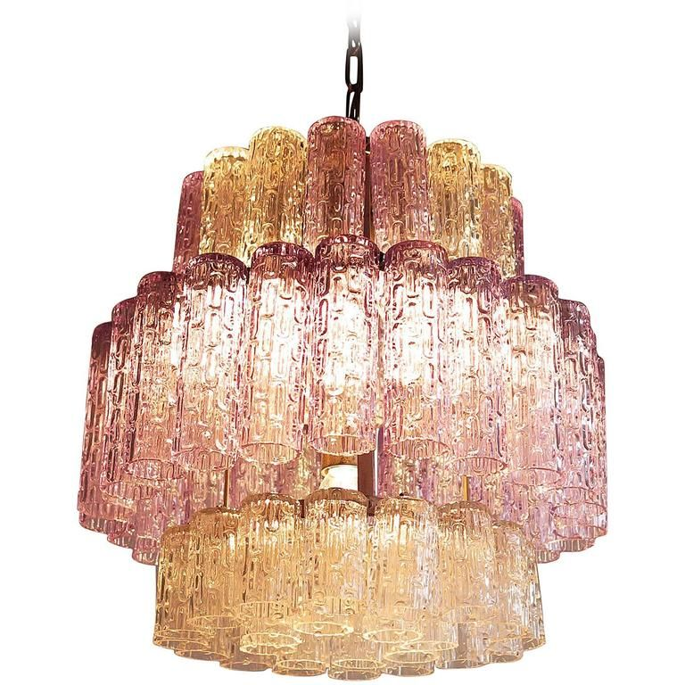Vintage Blue and Transparent Murano Glass Chandelier in Venini Style | From a unique collection of antique and modern chandeliers and pendants at https://www.1stdibs.com/furniture/lighting/chandeliers-pendant-lights/