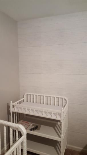 NuWallpaper OffWhite Shiplap Peel and Stick Wallpaper
