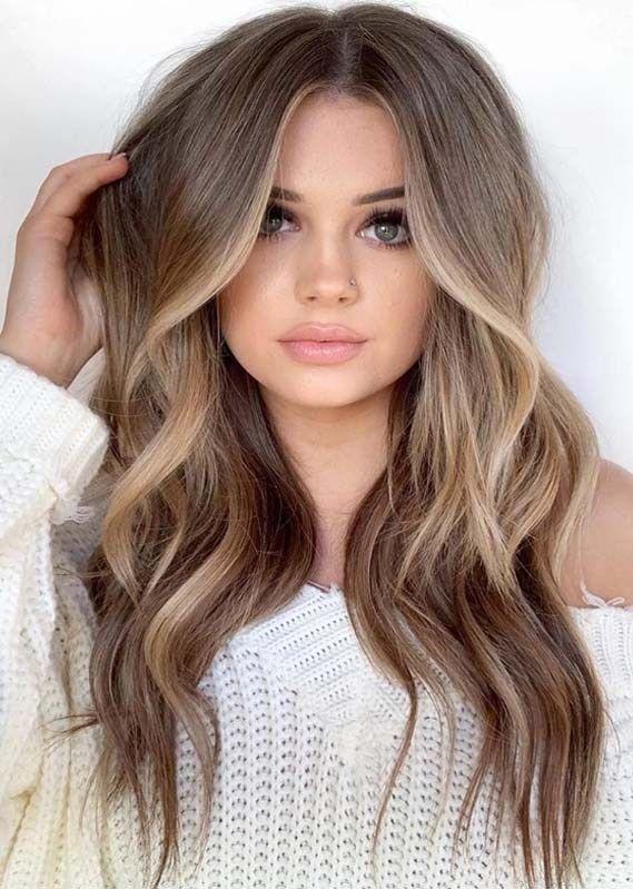 Natural Face Framing Highlights Hair Styles Balayage Hair Hair Color