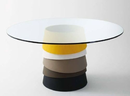 Mesa redonda moderna de vidrio - LAYER 1 by L. Nichetto | Mesas ...