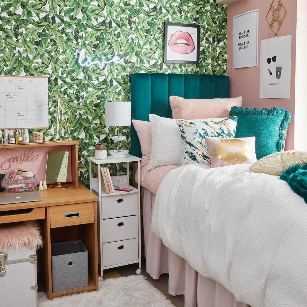 Iconic Palm Leaf Removable Wallpaper In 2020 Dorm Room Inspiration Dorm Room Designs College Dorm Room Decor