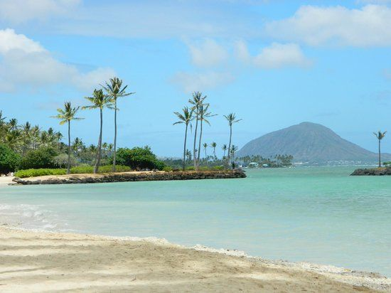 Kahala Beach Fronting The Condos And Hotel Island Of Oahu