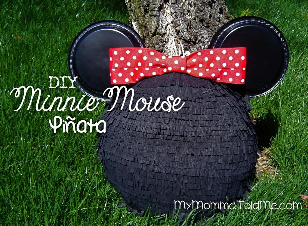 DIY Mickey & Minnie Mouse Pinatas // My Momma Told Me