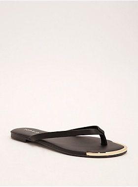 00b50a7ab60f Metal Toe Flip Flops (Wide Width)