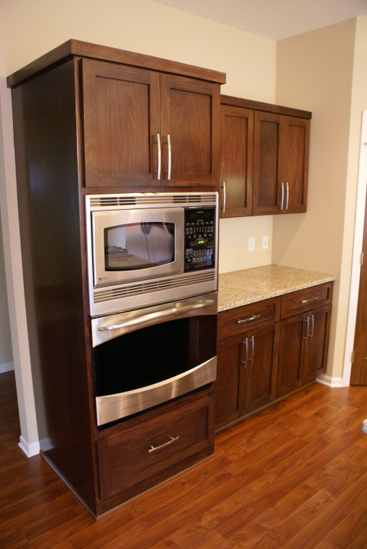 Dark Stained Poplar Cabinets - maybe stain my cabinets like this and ...