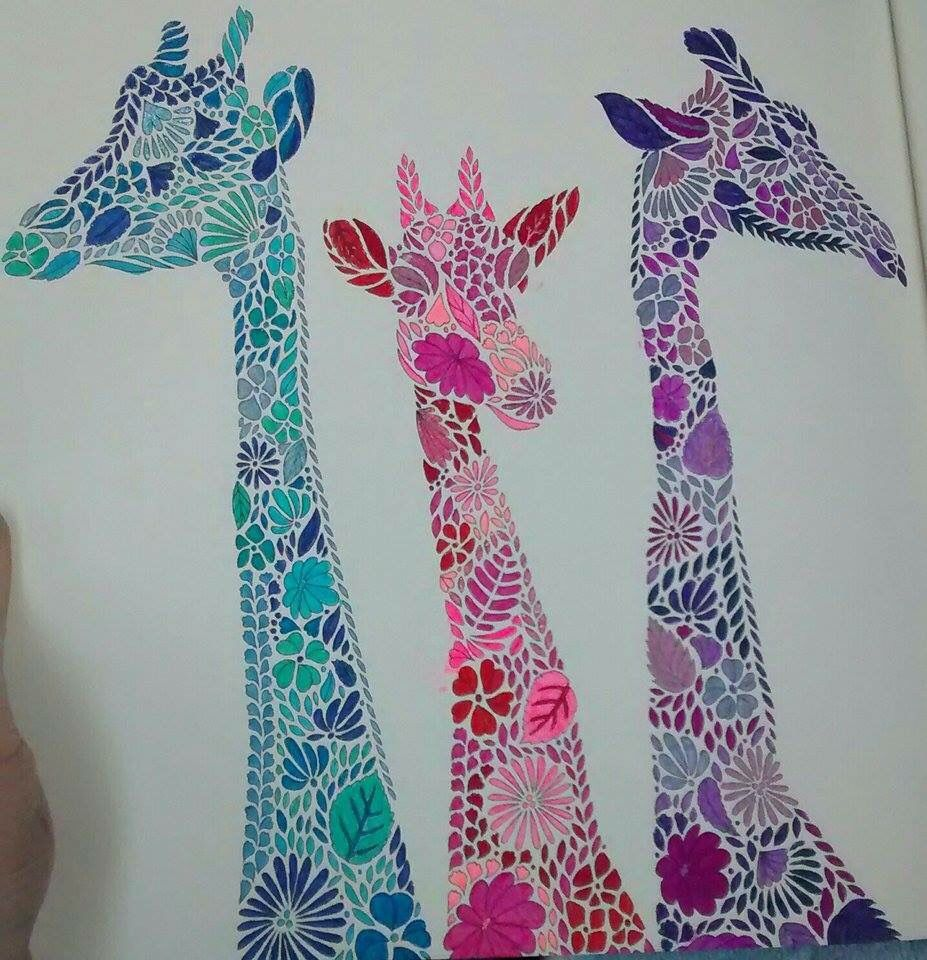 Giraffes From Millie Marotta S Animal Kingdom Colouring Book Animal Kingdom Colouring Book Millie Marotta Coloring Book Millie Marotta Animal Kingdom