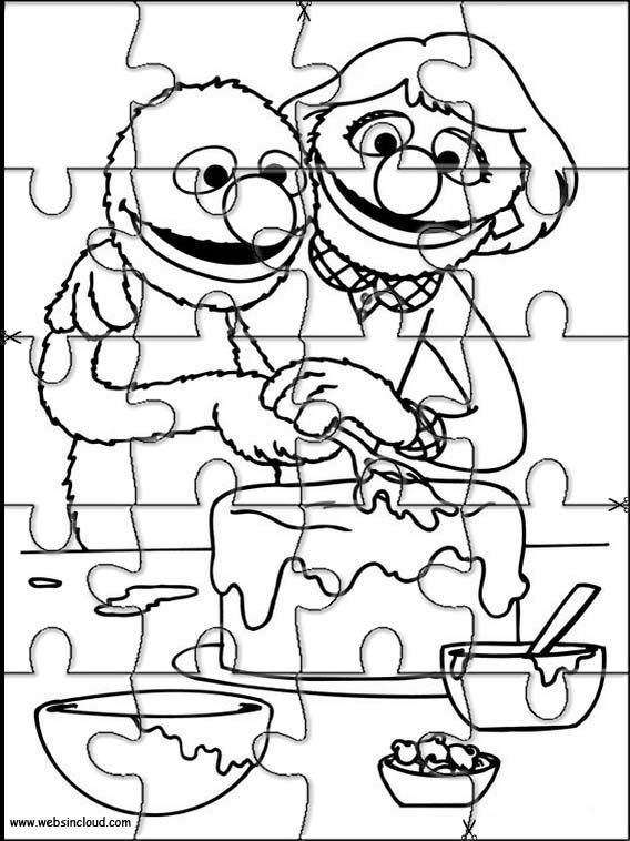 Printable Jigsaw Puzzles To Cut Out For Kids Sesame Street 65