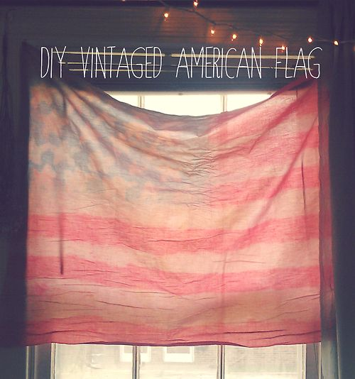 Brown Finches: I Try A DIY // Vintage American Flag