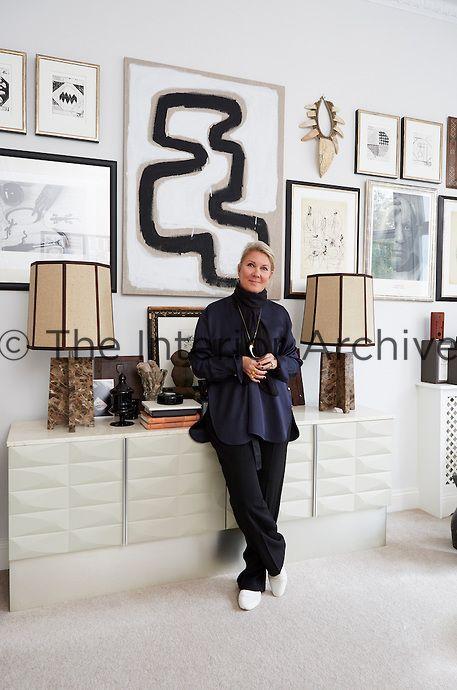 621ce69ec1 Danish fashion designer Malene Birger in her London apartment ...