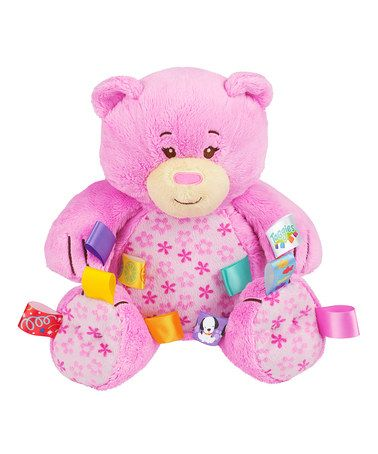 Take a look at this Pink Fun Lovin' Pal Bear by Taggies on #zulily today!
