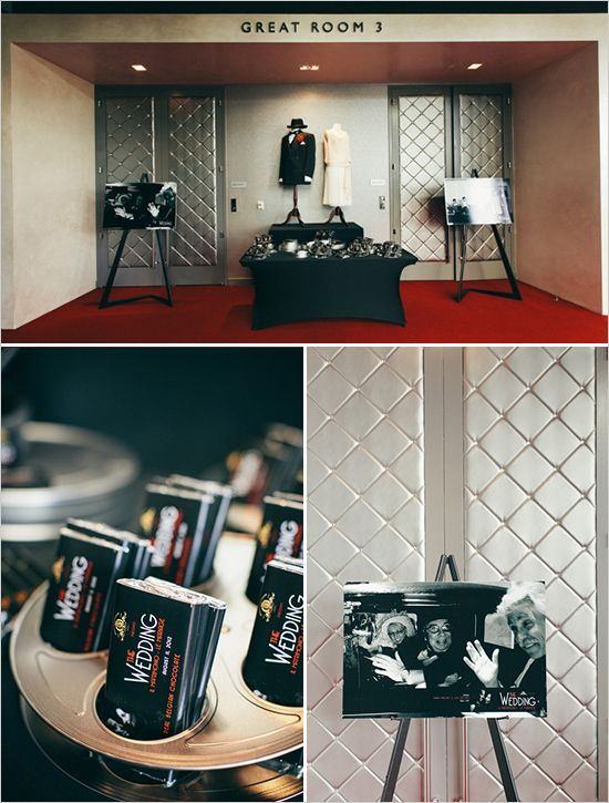 Gorgeous Glam Old Hollywood Inspired Black and White Wedding ...