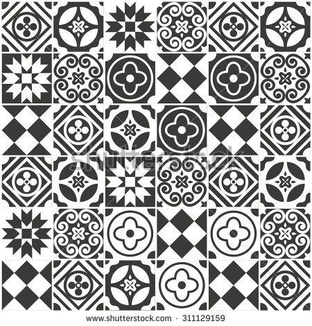 Decorative Tile Designs Decorative Tile Pattern Designvector Illustration  Signs