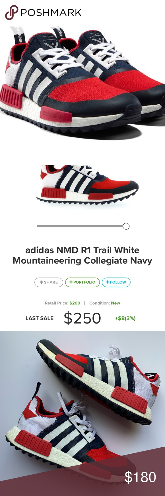 """half off 3d1fb bfe71 Adidas White Mountaineering R1 Trail 10.5 RARE GUC From kicksonfire  """"This  pair of the"""