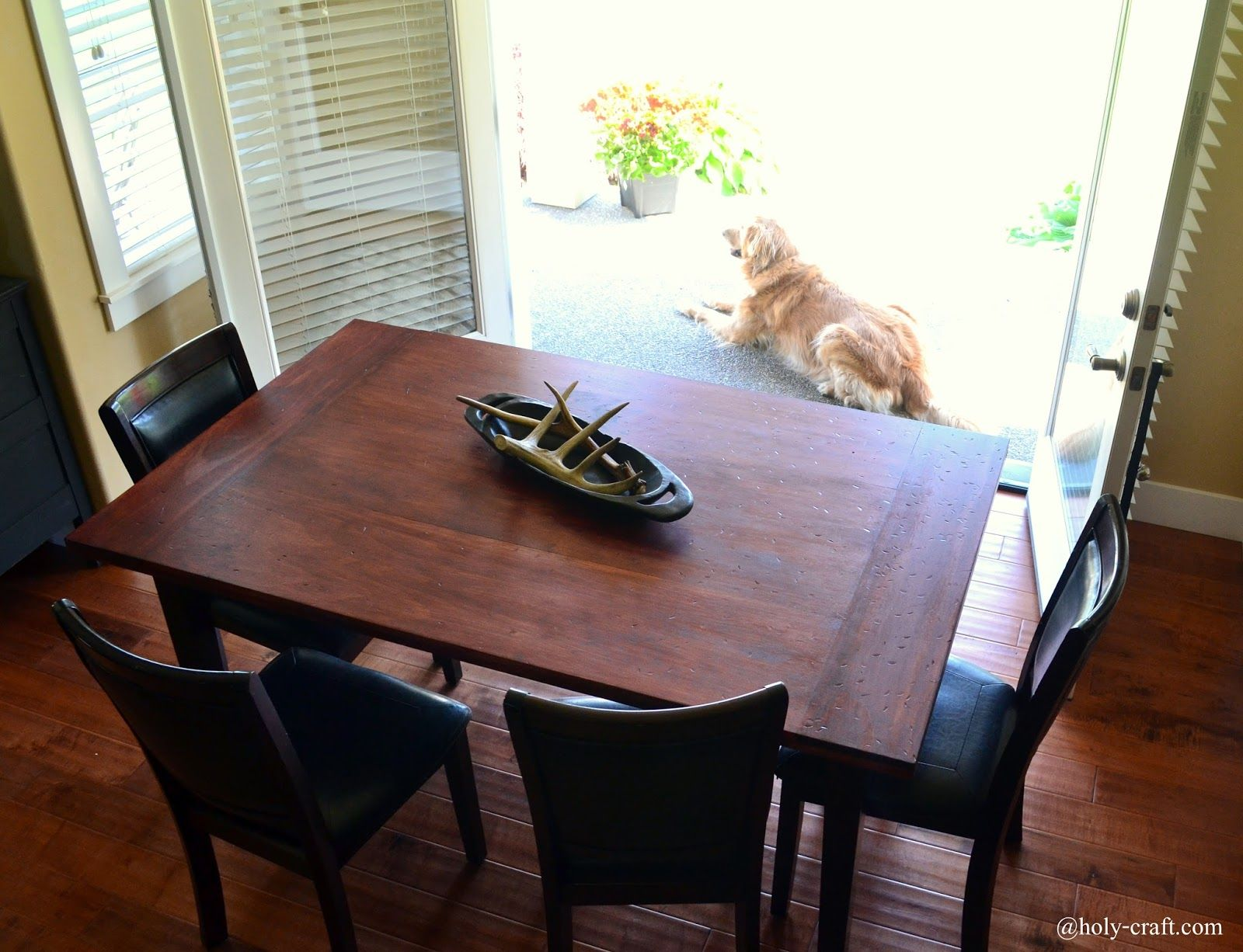Charming Easy DIY Planked Table Top Cover For Your Existing Table