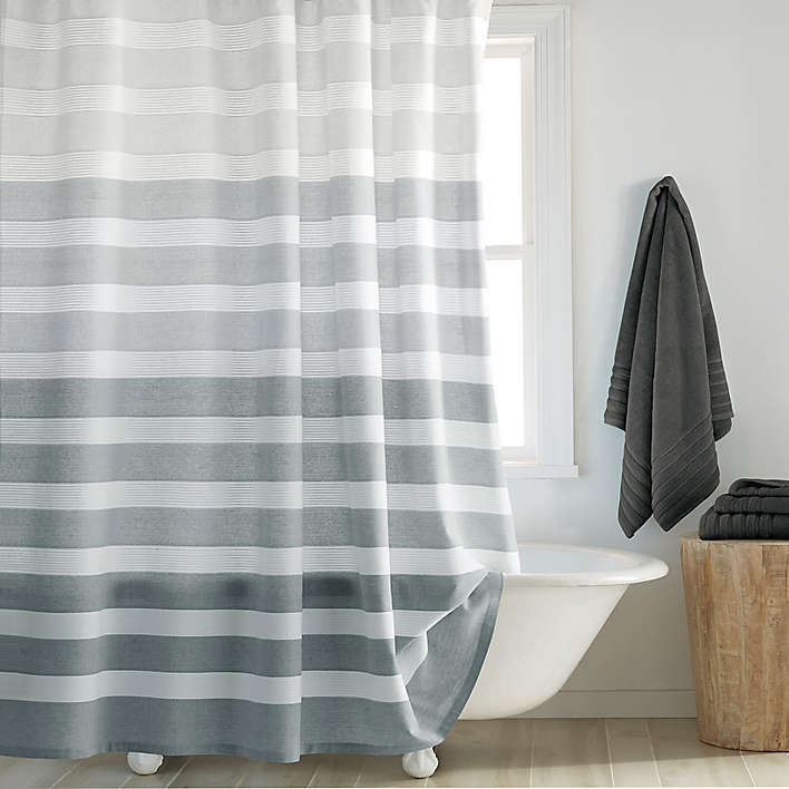 Shower Curtains Bed Bath Beyond With Images Striped Shower Curtains Shabby Chic Bathroom Shower Curtain