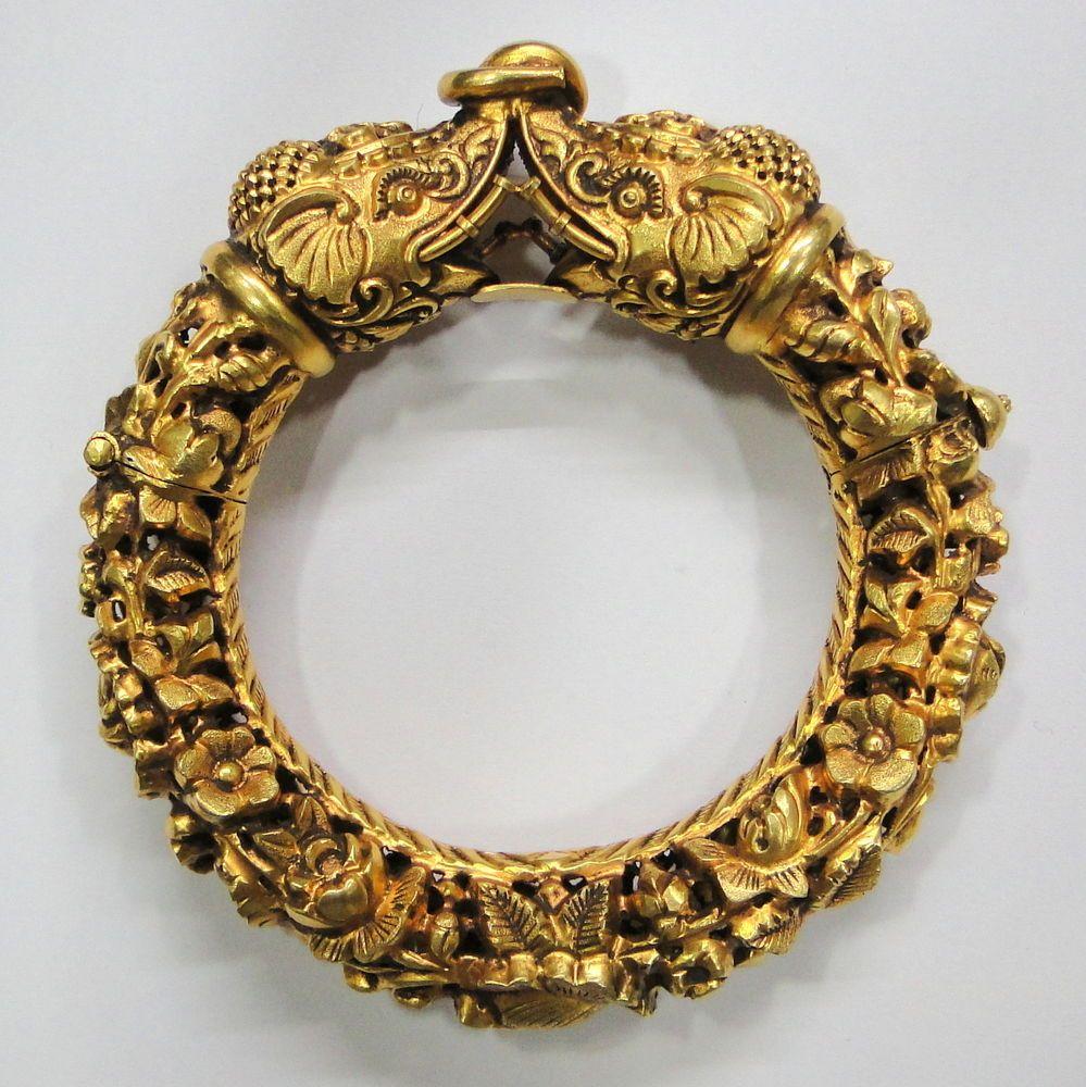 Elephant Design Gold Bangles