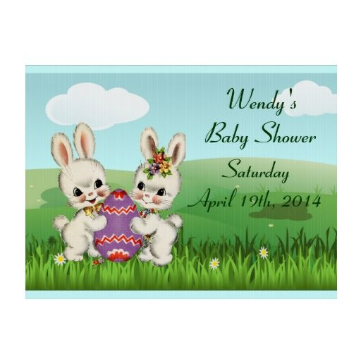 personalized easter baby shower yard signs