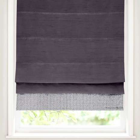 Blackout Bedroom Blinds silver sequin border blackout roman blind | best blackout curtains