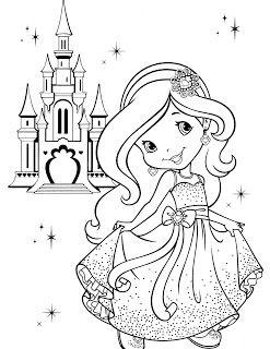 Moranguinho Princesa Desenhos Para Colorir Anjo Para Colorir