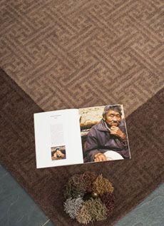lattice design rug in custom colors from Torana Tibetan carpets
