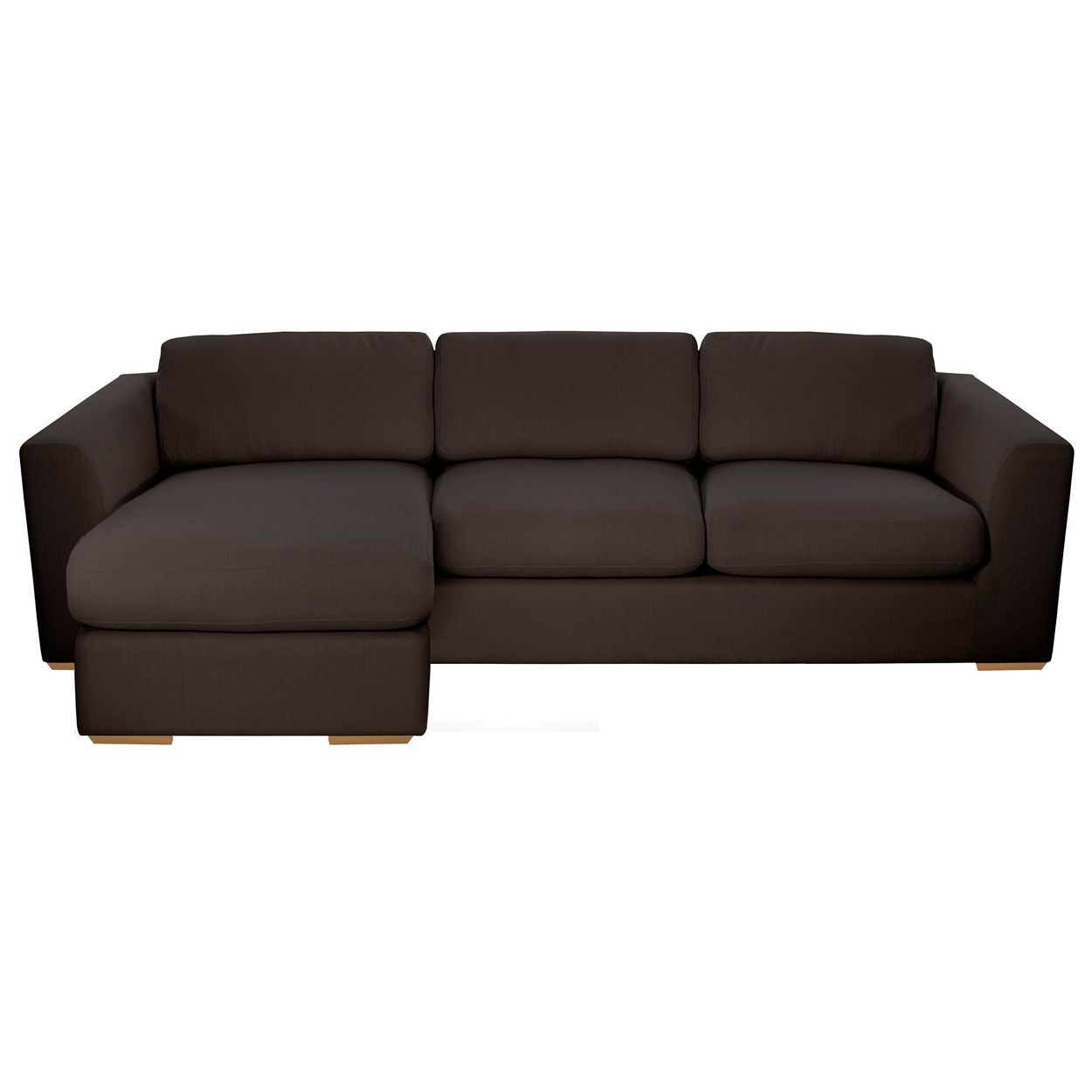 Our premium 'Paris' range seamlessly blends comfort and style. This chaise corner sofa features a contemporary design with generous proportions and soft cushioning. The fine-textured fabric has a subtly lustrous finish, yet maintains a smooth and inviting feel that's equally suited to formal or relaxed settings.