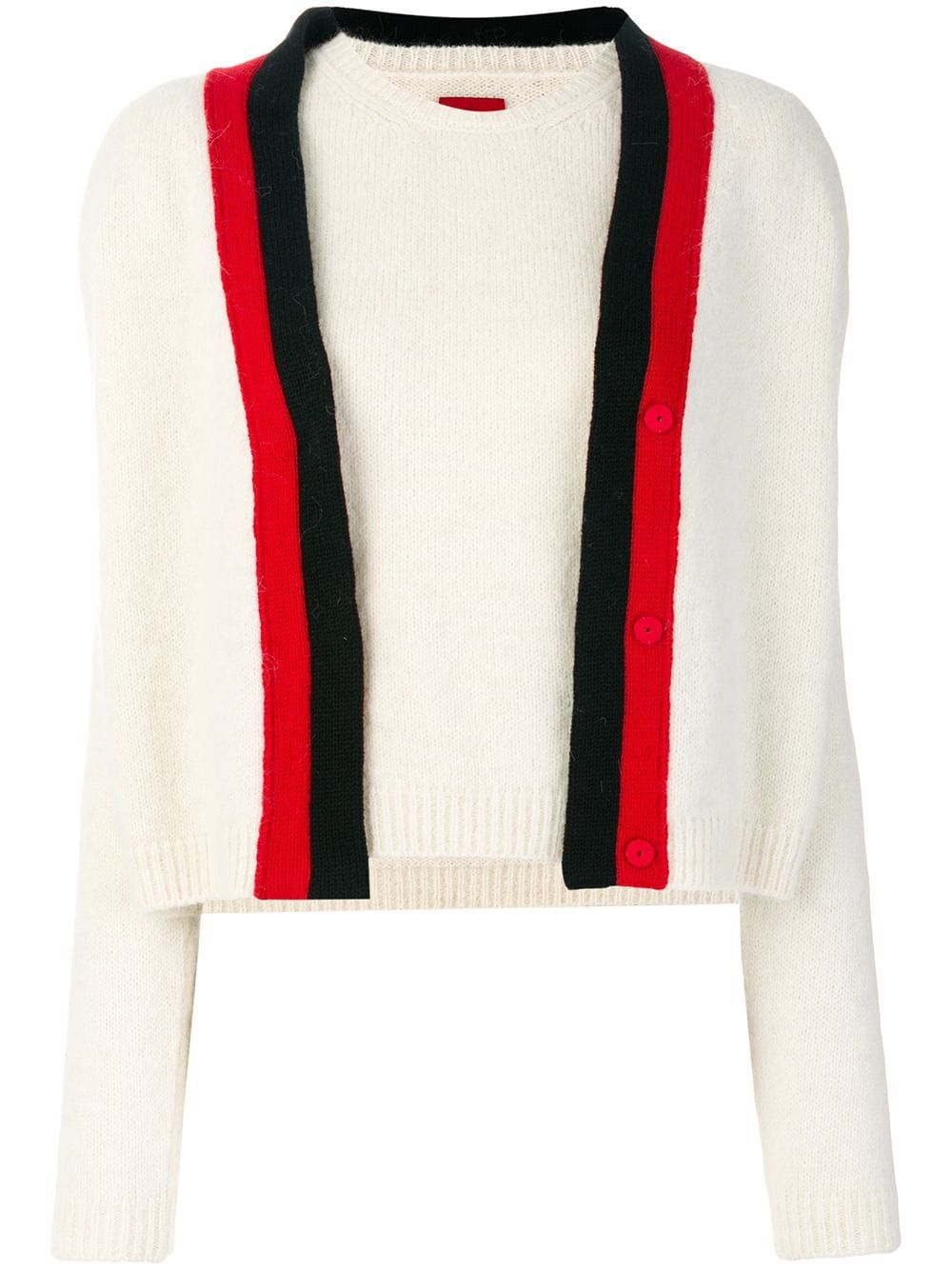 Moncler two piece knitted top White | Knit top, Knitwear