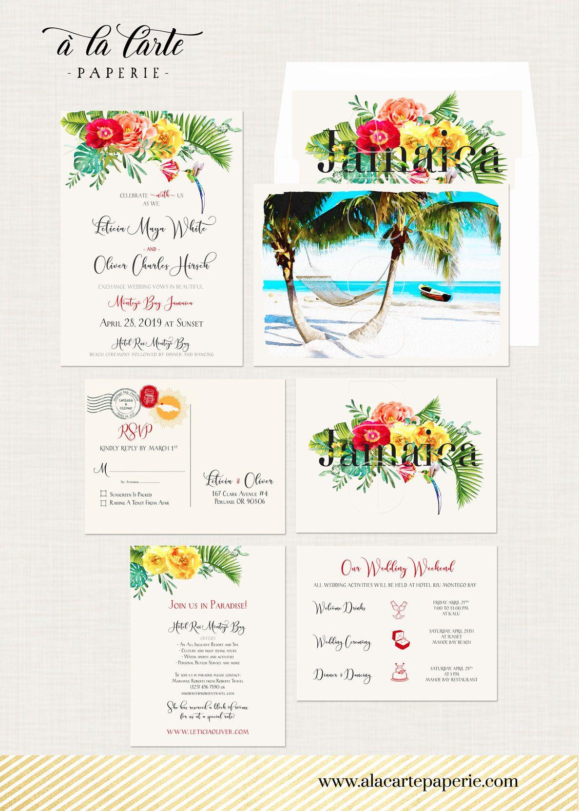 Destination wedding Jamaica Montego Bay Negril tropical paradise ...