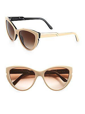 Stella McCartney Notched Plastic Cat's-Eye Sunglasses