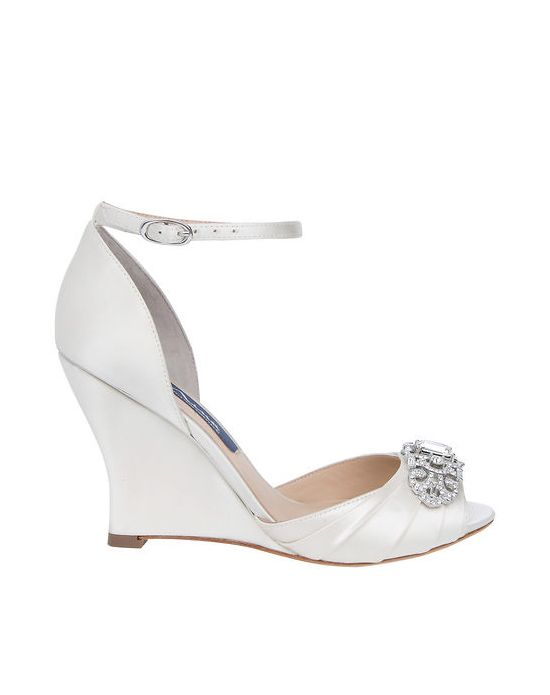 Strappy Wedge Wedding Shoe
