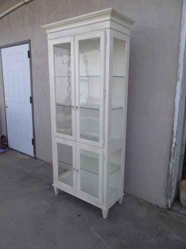 Awesome Ethan Allen Swedish Home Curio China Cabinet Break Front Hutch | EBay