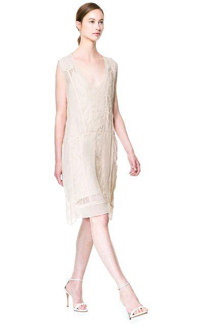 LACE DETAIL DRESS - Dresses - Woman | ZARA United States
