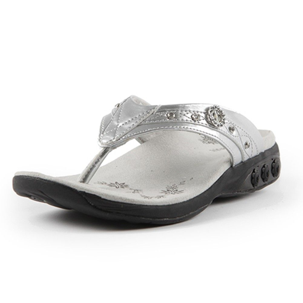 df76a26fa9877b Therafit Brittany Women s arch support Jeweled Patent Leather Sandal ...
