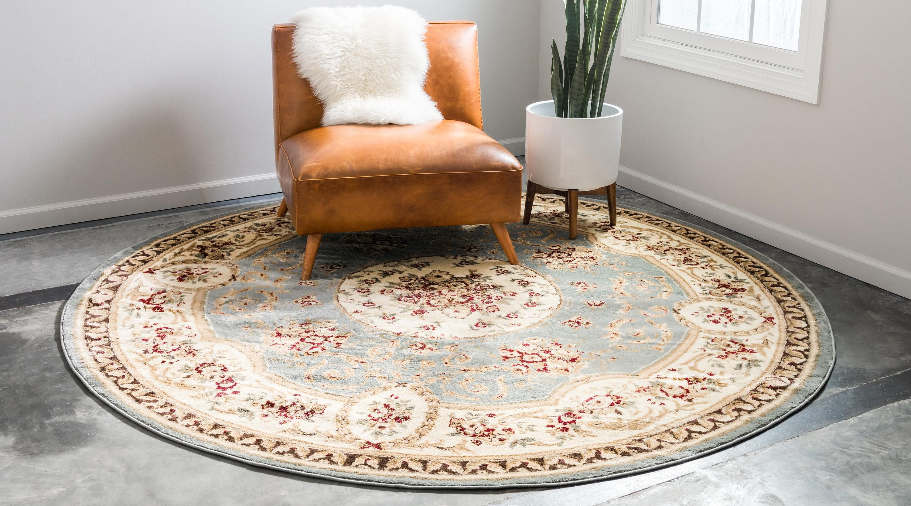 Light Blue 8 X 8 Classic Aubusson Round Rug Ad Blue Light Classic Rug Aubusson Sponsored Round Rugs Rugs Vintage House