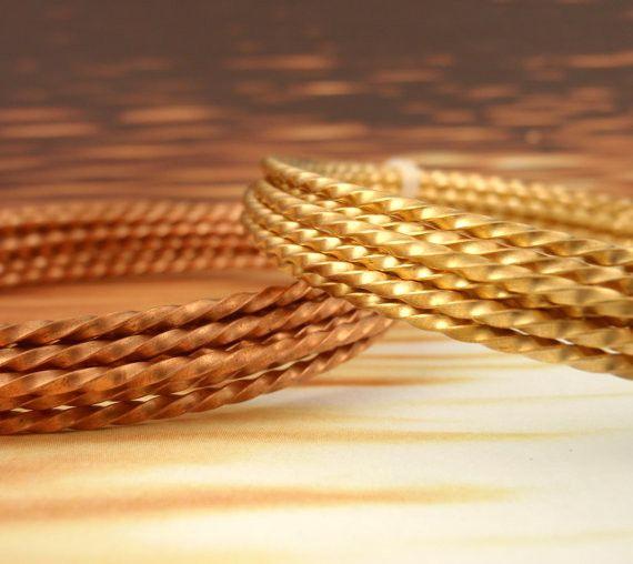 14 gauge Twisted Square Wire - 4.5 Feet - 100% Guarantee - Brass, Copp | Unkamen Supplies